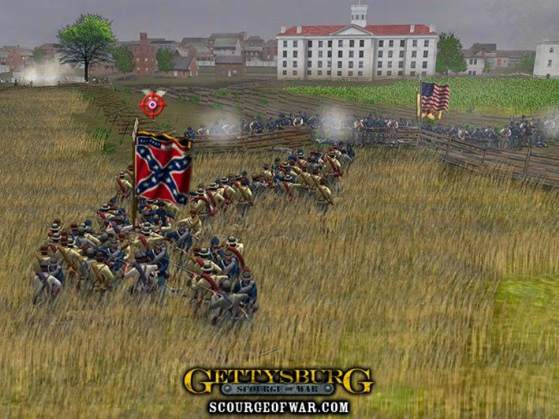 Скриншоты из игры Scourge of War: Gettysburg скачать через торрент бесплатн