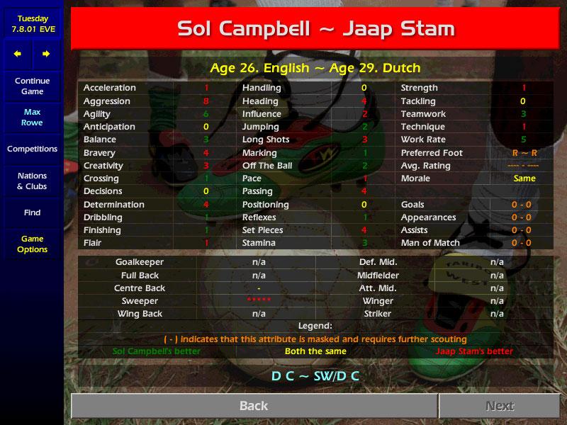 Смотреть полную версию скриншота из игры Championship Manager Season 01/02.
